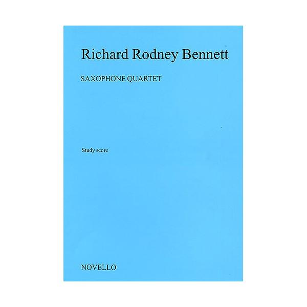 Richard Rodney Bennett: Saxophone Quartet (Score) - Bennett, Richard Rodney (Artist)