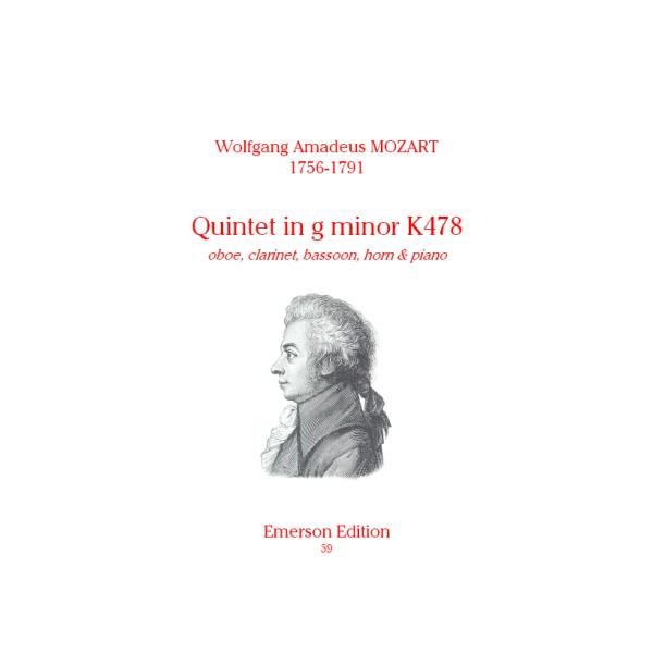 Mozart, W A - Quintet in G minor K478
