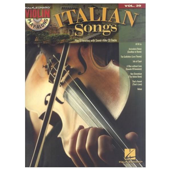Play-Along Violin: Italian Songs- Volume 39 -