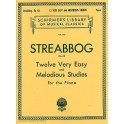 Louis Streabbog: Twelve Very Easy And Melodious Etudes Op.63 (Grade 1) - Streabbog, Louis (Composer)