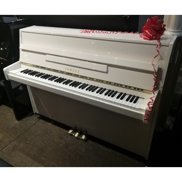 Yamaha B1 Upright Piano in White Polyester