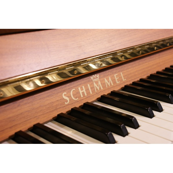 Schimmel C116T in Light Walnut Satin Upright Piano