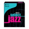 Rico Select Jazz Alto Saxophone Reeds - UNFILED