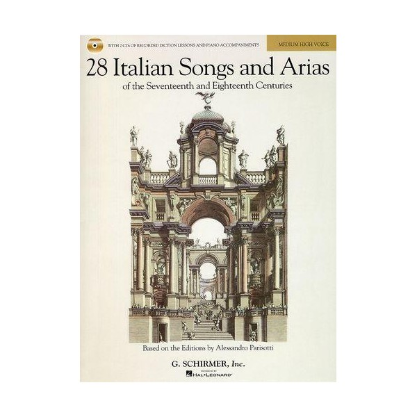 28 Italian Songs And Arias: Medium/High Voice (Book And 2 CDs) - Walters, Richard (Editor)