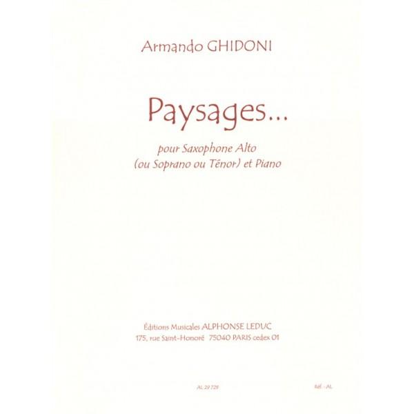 Ghidoni, Armando - Paysages... (Alto or Tenor Saxophone & Piano)