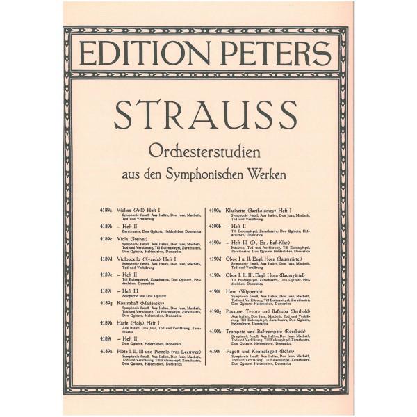 Strauss, Richard - Orchestral Studies for Harp