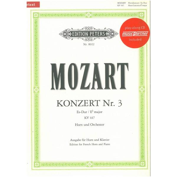 Mozart, W A - Third Horn Concerto in E flat major