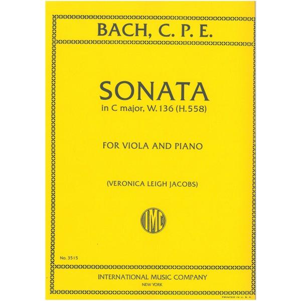 Bach, C P E - Viola Sonata in C major