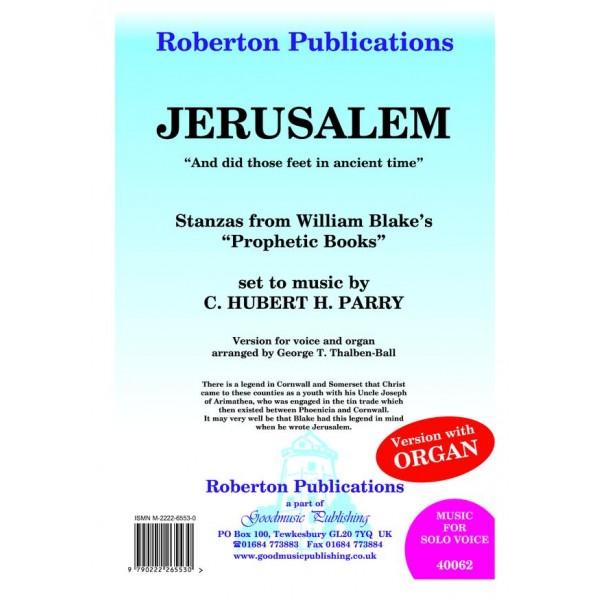 Parry, C Hubert H - Jerusalem