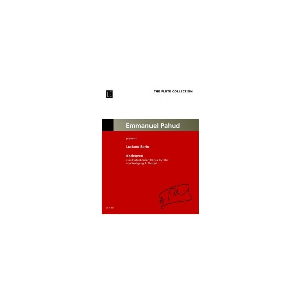 Berio, Luciano - Cadenzas to the Mozart Flute Concerto in D K314