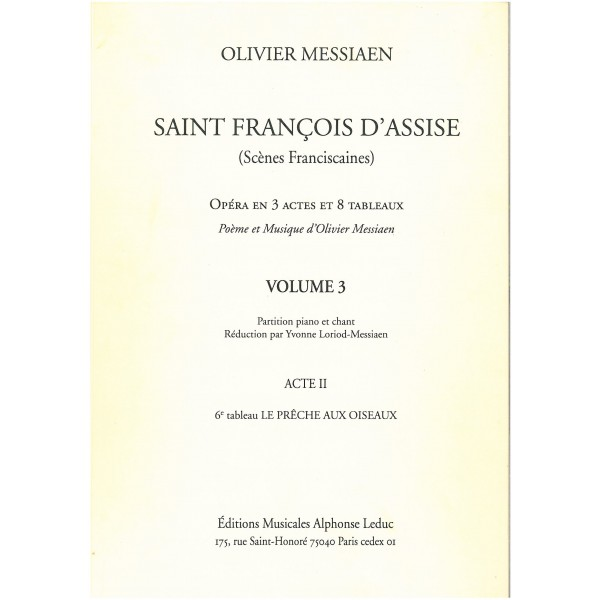 Messiaen, Olivier - Saint Francois d'Assise Vol 3