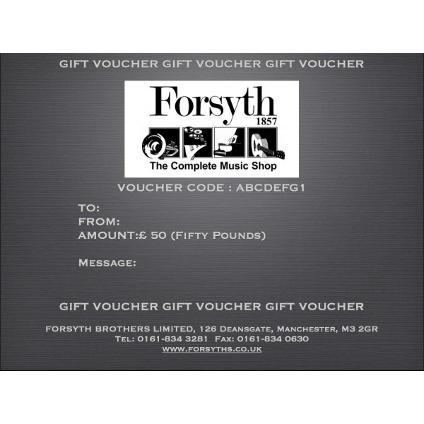 Gift Voucher - Fifty Pounds