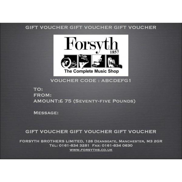 Gift Voucher - Seventy Five Pounds