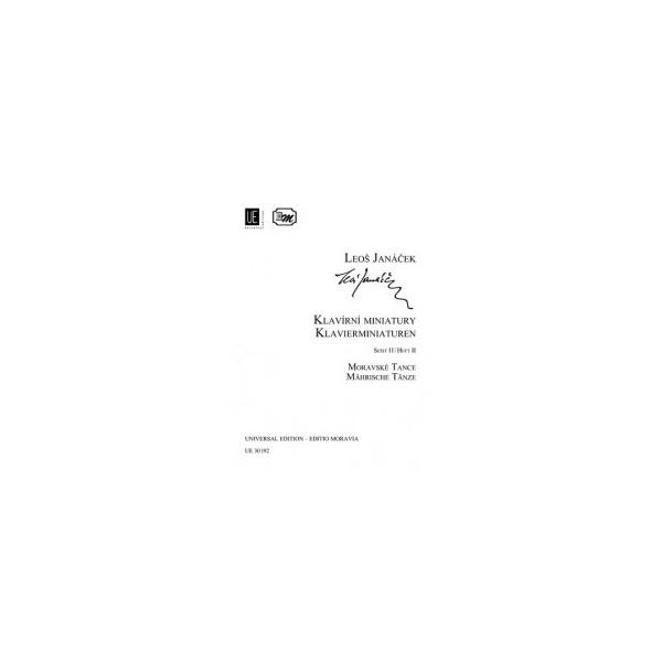 Janacek, Leos - Piano Miniatures Part Two