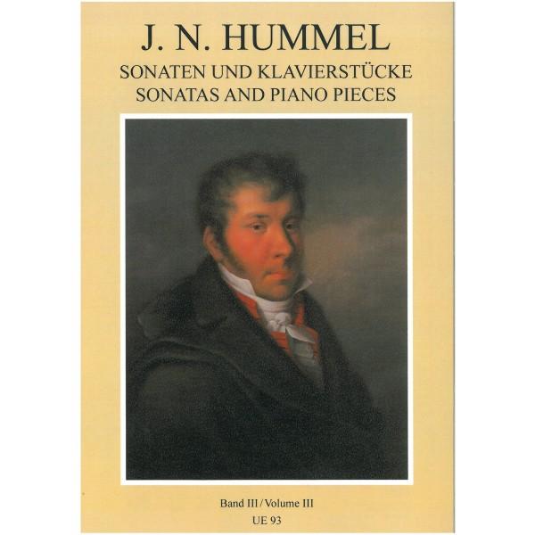 Hummel, Bertold - Sonatas & Piano Pieces Volume 3