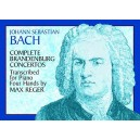 Johann Sebastian Bach: Complete Brandenburg Concertos Piano Four Hands - Bach, Johann Sebastian (Composer)