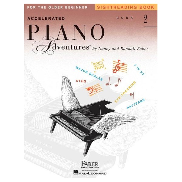 Accelerated Piano Adventures: Sightreading - Book 2 - Randall Faber, Nancy Faber (Author)
