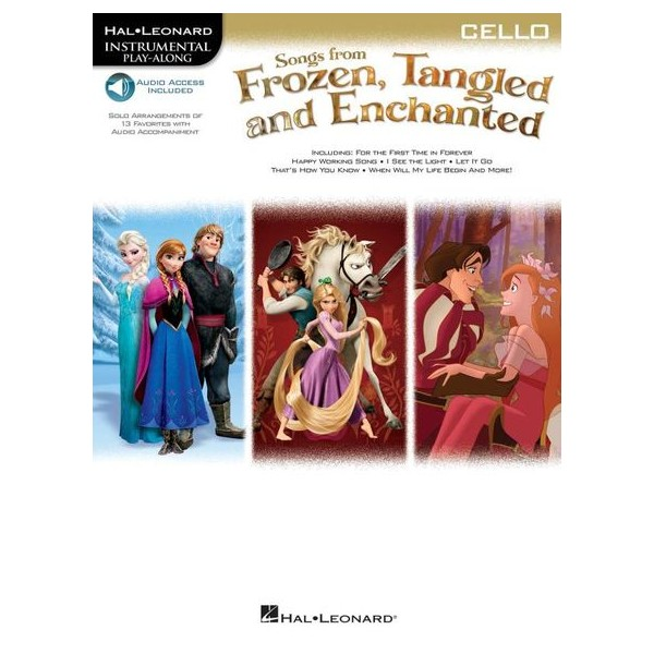 Cello: Songs From Frozen, Tangled And Enchanted (Book/Online Audio)