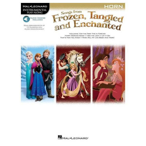 Horn: Songs From Frozen, Tangled And Enchanted  (Book/Online Audio)