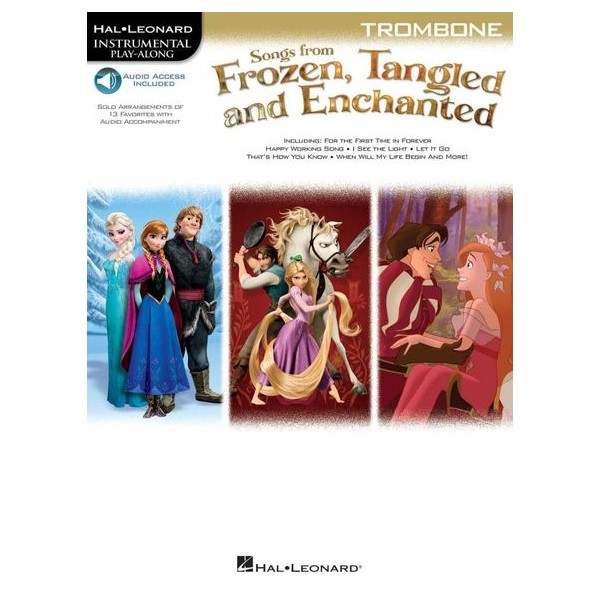 Trombone: Songs From Frozen, Tangled And Enchanted (Book/Online Audio)