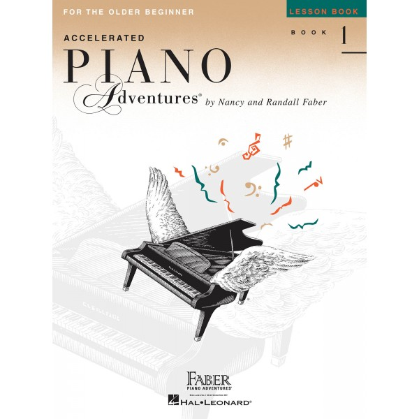 Faber Piano Adventures: Accelerated Piano Adventures for the Older Beginner - Lesson Book 1 - Faber, Nancy (Author)