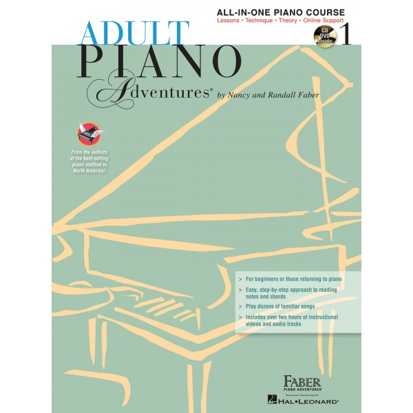 Faber Piano Adventures: Adult Piano Adventures All-in-One Lesson - Book 1 - Faber, Nancy (Author)