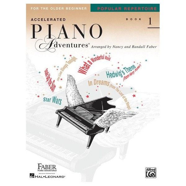 Accelerated Piano Adventures For The Older Beginner: Book 1 - Popular Repertoire - Faber, Nancy (Arranger)