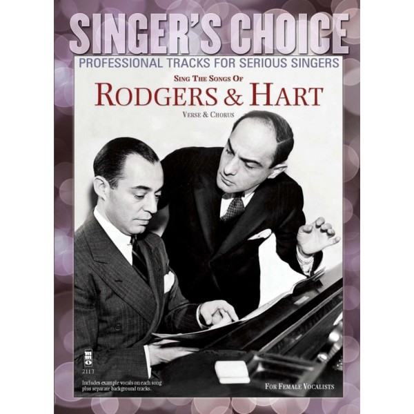 Sing the Songs of Rogers & Hart - Music Minus One - Backing Track CD + Sheet Music
