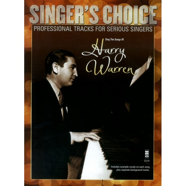 Sing the Songs of Harry Warren - Music Minus One - Backing Track CD + Sheet Music