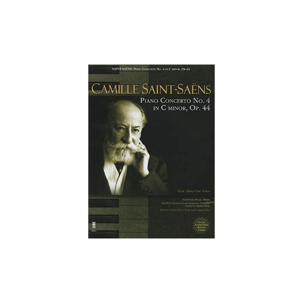 Saint-Saëns - Piano Concerto No. 4 in C Minor, Op. 44 - Music Minus One - Sheet Music + CD Play-a-long Edition
