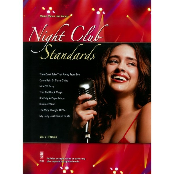 Night Club Standards Vol.2 - Music Minus One Vocals - CD & Sheet Music Sing-a-long edition