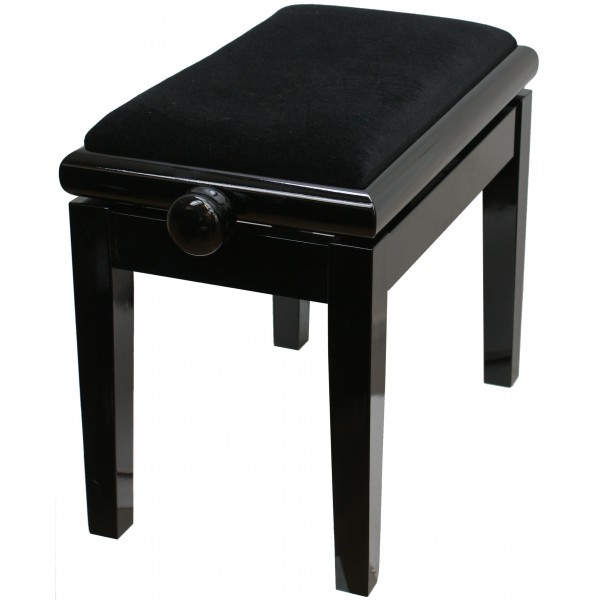 125ET Single Adjustable Piano Stool **BEST SELLER** Black Polish with black velvet  sc 1 st  Forsyths & 125ET Single Adjustable Piano Stool **BEST SELLER** by CGM islam-shia.org