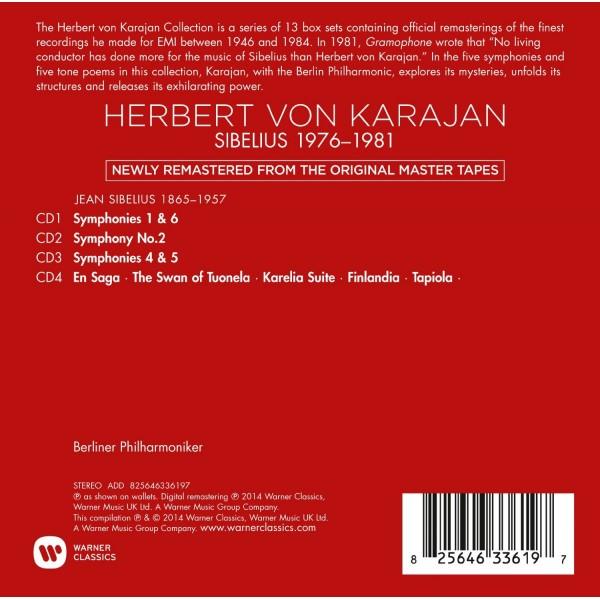 Sibelius 1976 - 1981 Karajan Official Remastered Edition Box Set