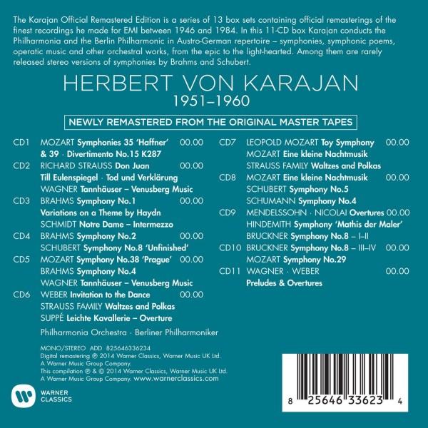 Mozart, Schubert, Brahms, Strauss, Wagner 1951 - 1960 Karajan Official Remastered Edition Box Set