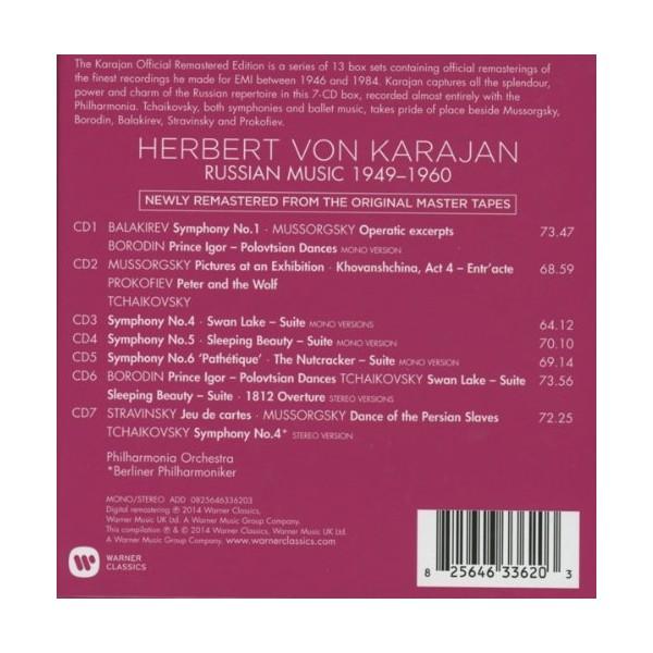 Mussorgsky, Tchaikovsky, Borodin, Balakirev, Stravinsky 1949-1960 (Karajan Official Remastered Edition)