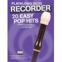 Playalong 20/20 Recorder: 20 Easy Pop Hits (Book/Download Card) - Hussey, Christopher (Arranger)