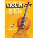 Playalong 20/20 Violin: 20 Easy Pop Hits (Book/Download Card) - Hussey, Christopher (Arranger)