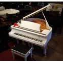 Bentley 148 Grand Piano in White Polyester with QRS PNOmation III