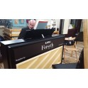 Kawai CA97 satin black hire piano in action