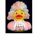 Rock Me Amadeus! Mozart Rubber Duck in Pink