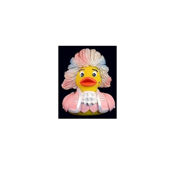 Rock Me Amadeus! Mozart Rubber Duck in Pink
