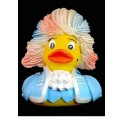 Rock Me Amadeus! Mozart Rubber Duck in Blue