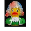 Rock Me Amadeus! Mozart Rubber Duck in Green