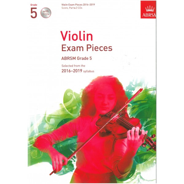 Violin Exam Pieces, 2016-2019, Grade 5, Score, part & CD