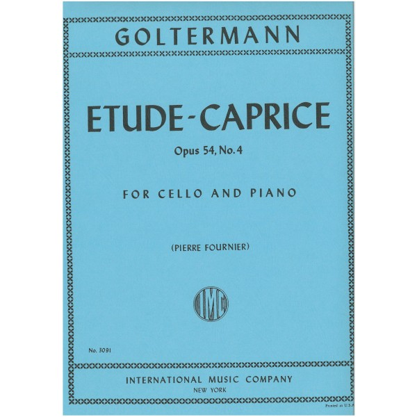 Goltermann, Georg - Etude Caprice (Cello) Op54 Nº4