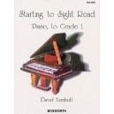 David Turnbull: Starting To Sight Read Piano To Grade 1 - Turnbull, David (Artist)