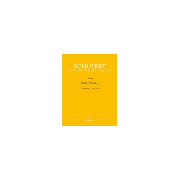 Lieder, Volume 5, Low Voice and Piano - Franz Schubert