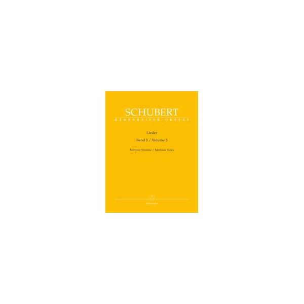 Lieder, Volume 5, Medium Voice and Piano - Franz Schubert