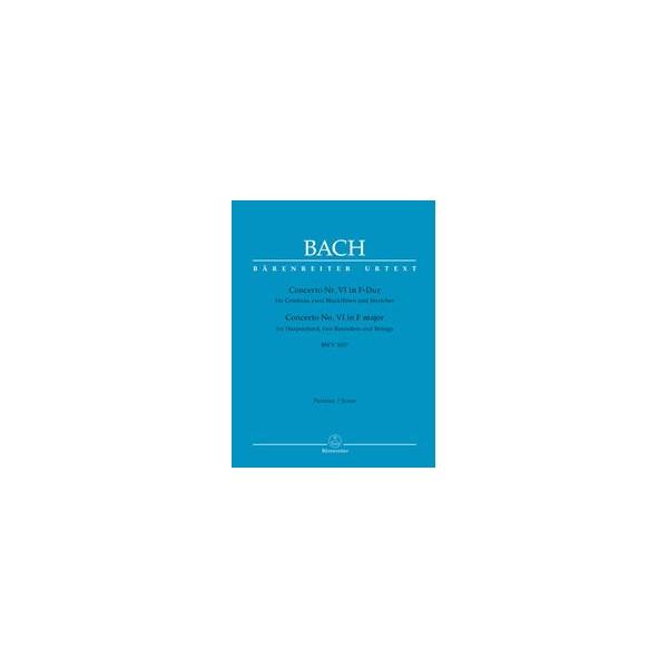 Concerto for Keyboard No 6 in F (BWV 1057) Full Score - Johann Sebastian Bach