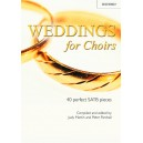 Weddings for Choirs - 40 perfect SATB pieces  - Martin, Judy  Parshall, Peter